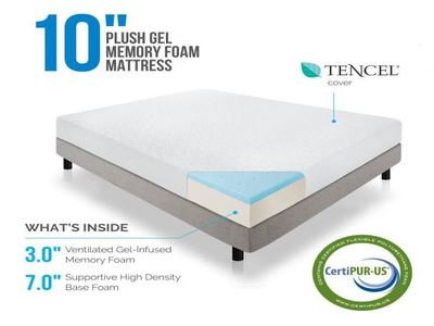 LUCID 10 Inch Plush Memory Foam Mattress Review